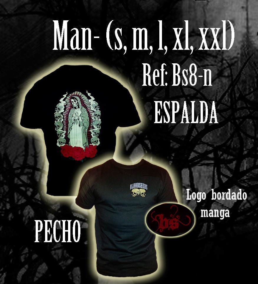 CAMISETA BLOODSHEDS VIRGEN NEGRO CHICO