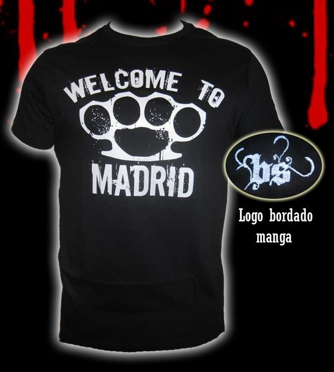 CAMISETA BLOODSHEDS WELCOME TO MADRID NEGRA CHICO