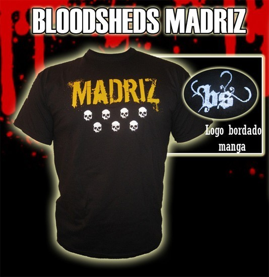 CAMISETA BLOODSHEDS MADRIZ NEGRA CHICO