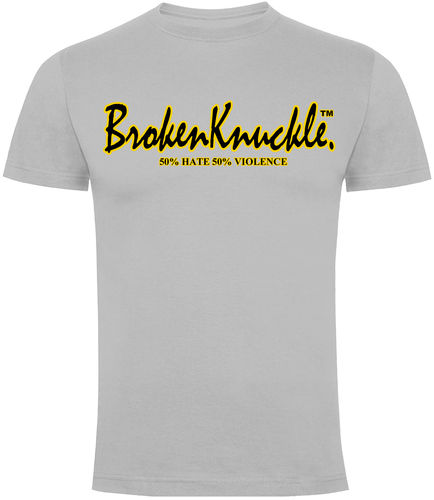 CAMISETA BROKEN KNUCKLE CLASICA BLANCA CHICO