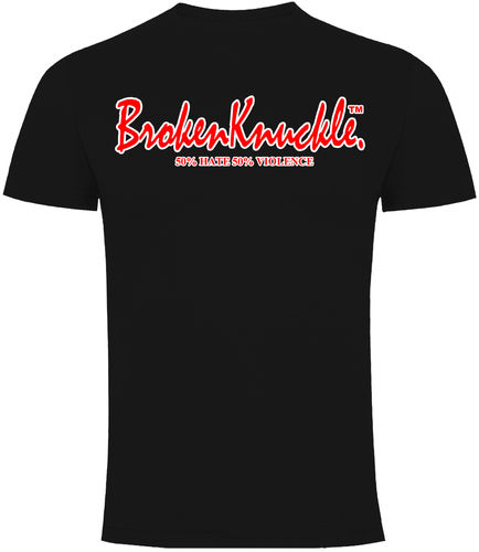 CAMISETA BROKEN KNUCKLE CLASICA NEGRA CHICO
