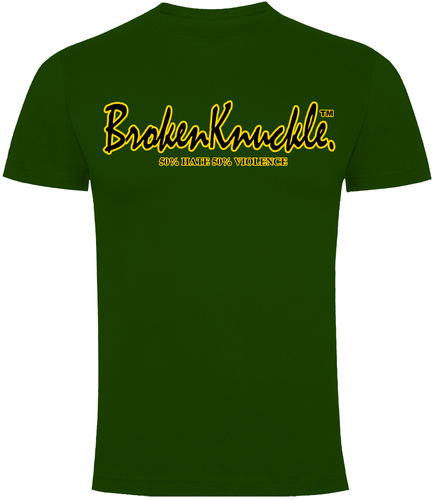 CAMISETA BROKEN KNUCKLE CLASICA VERDE CHICO