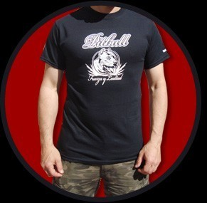 CAMISETA URBAN BLOOD PITBULL NEGRA CHICO
