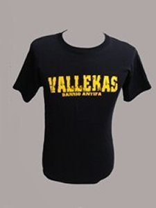 CAMISETA VALLEKAS BARRIO ANTIFA NEGRA CHICO