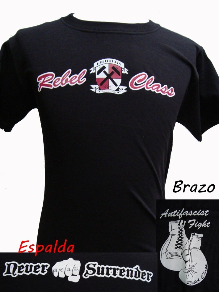 CAMISETA REBEL CLASS FIGHTERS CHICO NEGRA