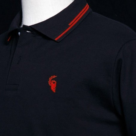 POLO 198 RISE UP! LOGO ROJO CHICO