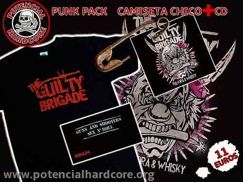 "PACK OFERTA CAMISETA CHICO + CD THE GUILTY BRIGADE ""POLVORA & WHISKY"""