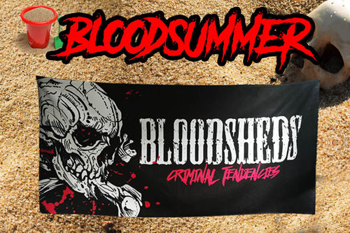 TOALLA BLOODSHEDS LOGO CRIMINAL TENDENCIES