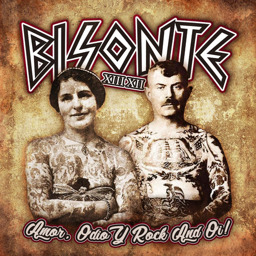 "LP BISONTE XIII XII ""AMOR, ODIO Y ROCK AND OI!"" VINILO AMARILLO"