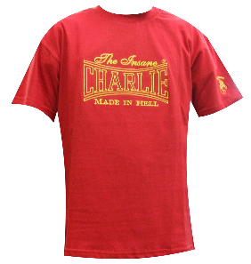 CAMISETA CHARLIE BORDADA MADE IN HELL ROJA CHICO