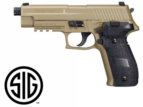 Sig Sauer P226 FDE Blowback CO2 - 4,5 mm Steel Bbs / Pellets