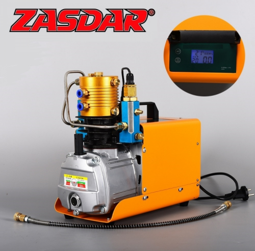 Digital Compressor with Automatic Stop 110 / 220v for PCP 300 Bar. (4500PSI / 30MPH)