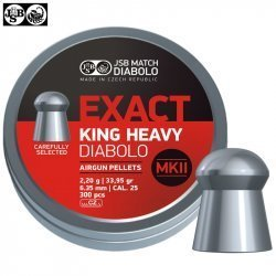 BALINES JSB EXACT KING HEAVY MKII ORIGINAL 300PCS 6.35MM (.25)