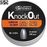 BALINES JSB KNOCK OUT SLUGS 5.50MM (.216) 25.39GR 200PCS