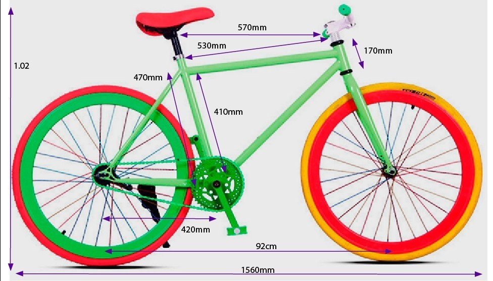Bicicleta fixie colores metálicos