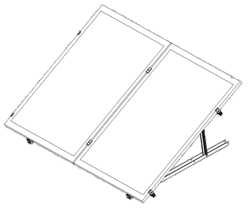 VERTICAL SOLAR MOUNT 1 PANEL FOR FLAT ROOF