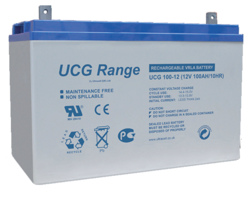 BATTERY ULTRACELL GEL,100Ah C10, 120 Ah C100,DEEP CYCLE