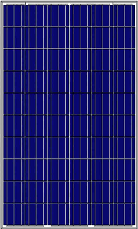 SOLAR PANEL AMERISOLAR 260WP POLYCRYSTALLINE