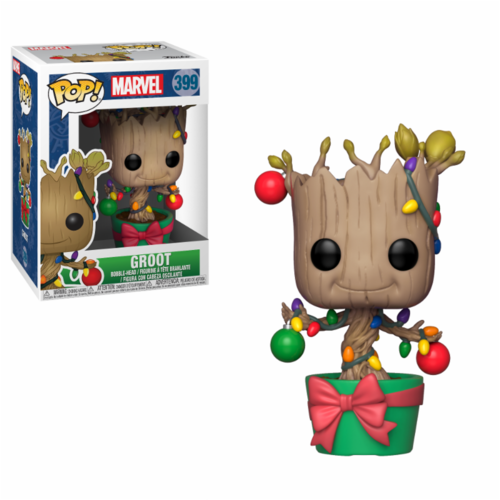 FIGURA POP MARVEL: GROOT W/ LIGHTS AND ORNAMENTS