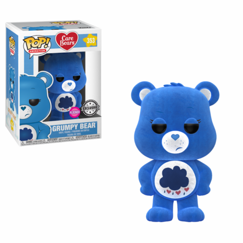 FIGURA POP CARE BEARS: GRUMPY BEAR FLOCKED
