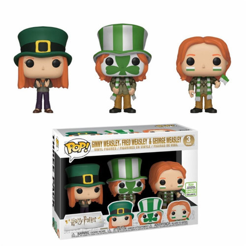 FIGURA POP HARRY POTTER ECCC 2019: GINNY WEASLEY, FRED WEASLEY AND GEORGE WEASLEY 3-PACK