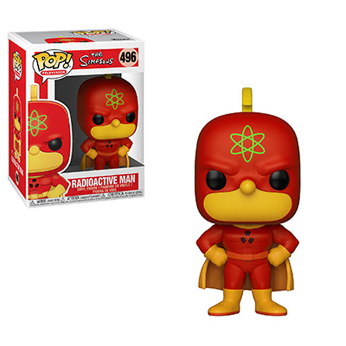 FALLO DE PINTURA - FIGURA POP THE SIMPSONS: RADIOACTIVE MAN