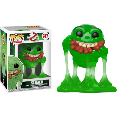 CAJA DAÑADA - FIGURA POP GHOSTBUSTERS: SLIMER W/ HOT DOGS TRANSLUCENT