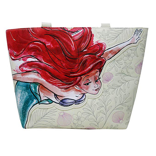 BOLSO LOUNGEFLY DISNEY: LITTLE MERMAID ARIEL WATERCOLOR