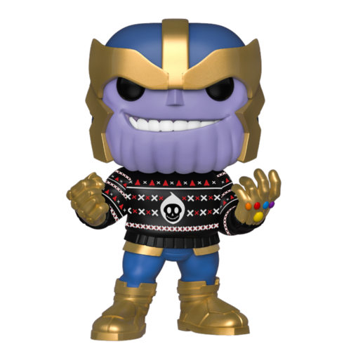 FALLO DE PINTURA - FIGURA POP MARVEL HOLIDAY: THANOS WITH SWEATER