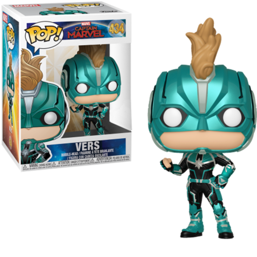 FALLO DE PINTURA - FIGURA POP CAPTAIN MARVEL: VERS WITH HELMET