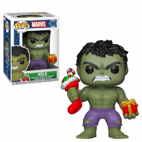 PIEZA ROTA - FIGURA POP MARVEL: HULK WITH STOCKING AND PLUSH