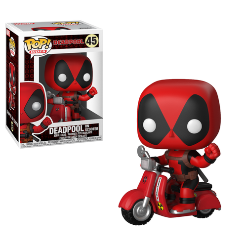 CAJA DAÑADA - FIGURA POP DEADPOOL: DEADPOOL AND SCOOTER