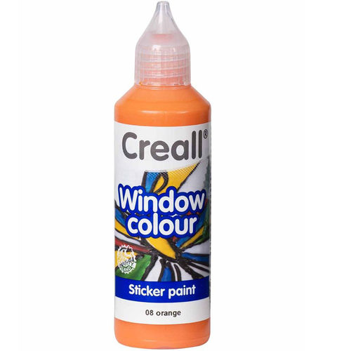 CREALL Pintura de Cristal WINDOW  COLOUR NARANJA 80ml.
