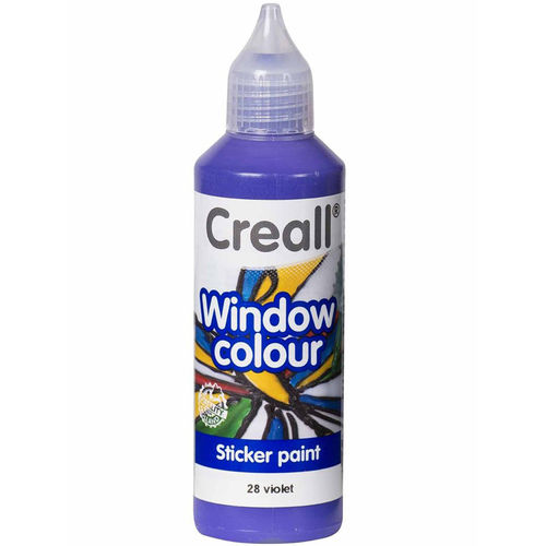 CREALL Pintura de Cristal WINDOW  COLOUR VIOLETA 80ml.