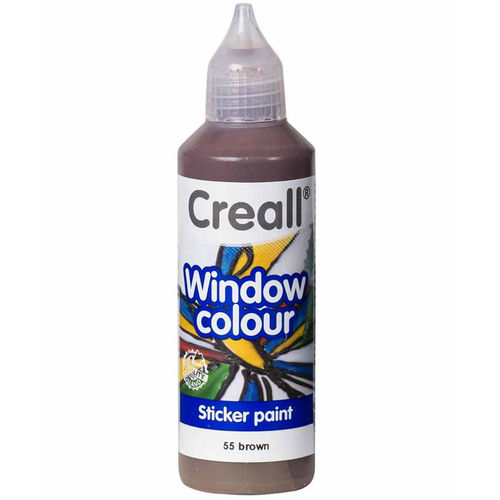 CREALL Pintura de Cristal WINDOW COLOUR MARRÓN 80ml.