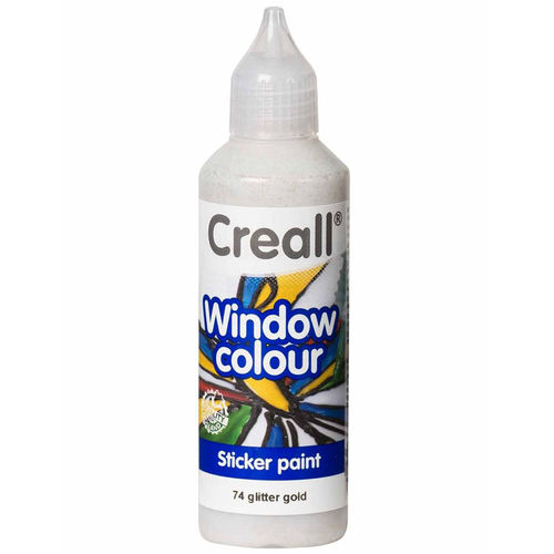 CREALL Pintura de Cristal WINDOW COLOUR GLITTER ORO 80ml.
