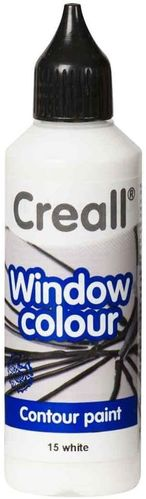 CREALL Pintura de Cristal WINDOW COLOUR BLANCO 80ml.