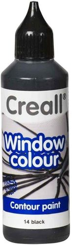 CREALL Pintura de Cristal WINDOW COLOUR NEGRO 80ml.