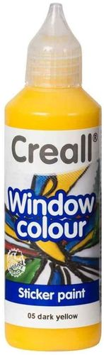 CREALL Pintura de Cristal WINDOW COLOUR AMARILLO 80ml.