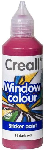 CREALL Pintura de Cristal WINDOW COLOUR ROJO 80ml.