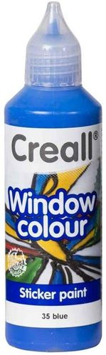 CREALL Pintura de Cristal WINDOW COLOUR BLUE 80ml.