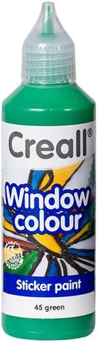 CREALL Pintura de Cristal WINDOW COLOUR VERDE 80ml.