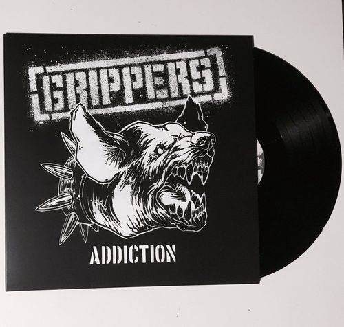 "LP GRIPPERS ""ADDICTION"" + FANZINE 8 PAGINAS"