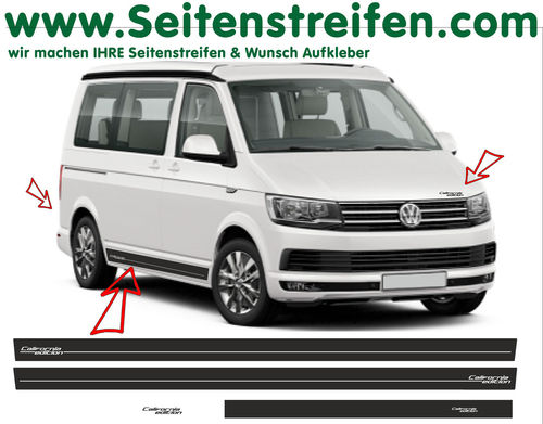 VW T4 T5 T6 California Edition set completo de pegatinas laterales  N°: 6686