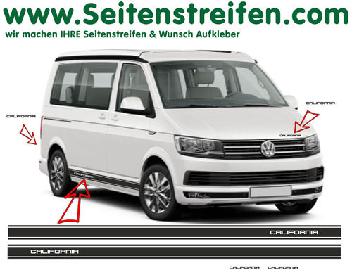 VW T4 T5 T6 California Version N°2  set completo de pegatinas laterales  N°: 6690
