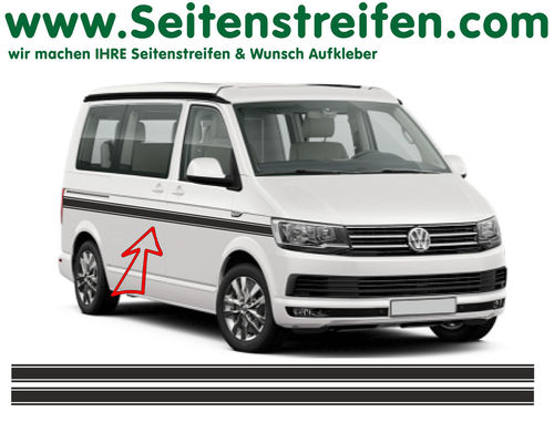 VW T4 T5 T6 - Custom set completo de pegatinas laterales  N°: 6684