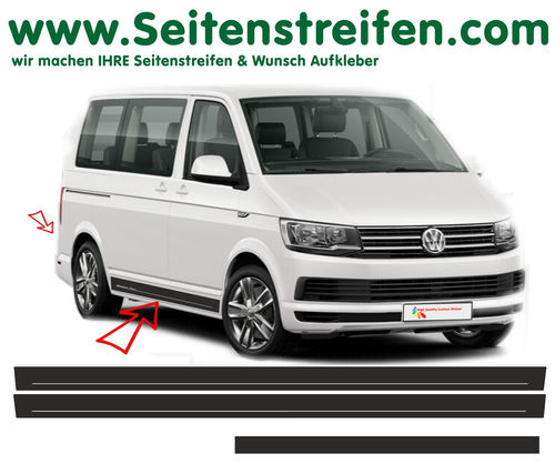 VW T4 T5 T6 -Edition set completo de pegatinas laterales  N°: 5418