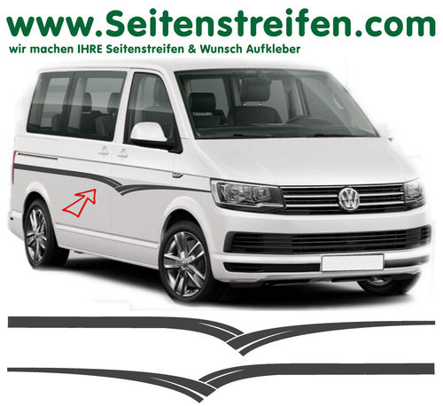 VW Bus T4 T5 T6  - Wings set completo de pegatinas laterales  N°: 7102