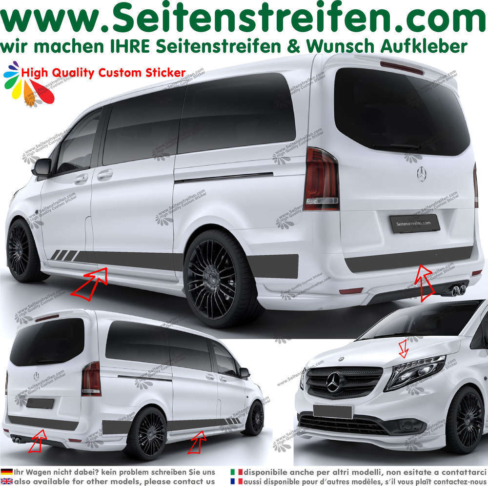 Mercedes Benz Clase V - Edition Look set completo de pegatinas laterales  N°: 6780