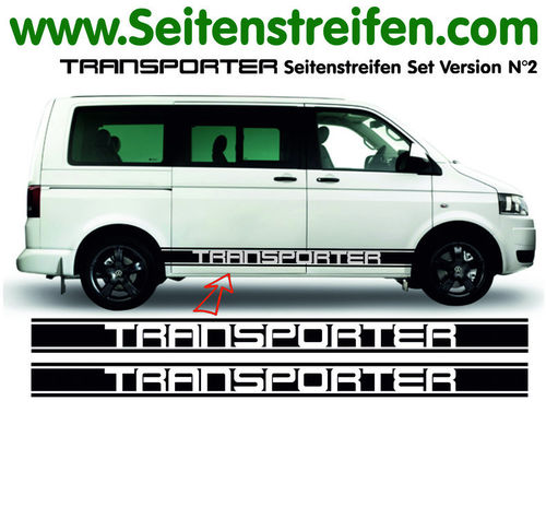 VW T4 T5 T6 Transporter XL- set completo de pegatinas laterales N°  5115